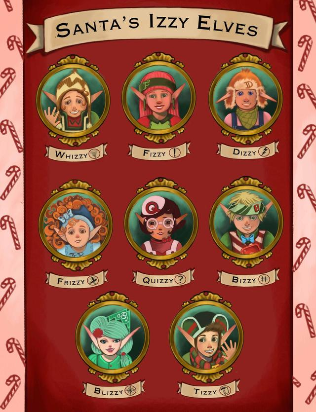 Santa's Izzy Elves (4 Book Series) by Dorothea Jensen