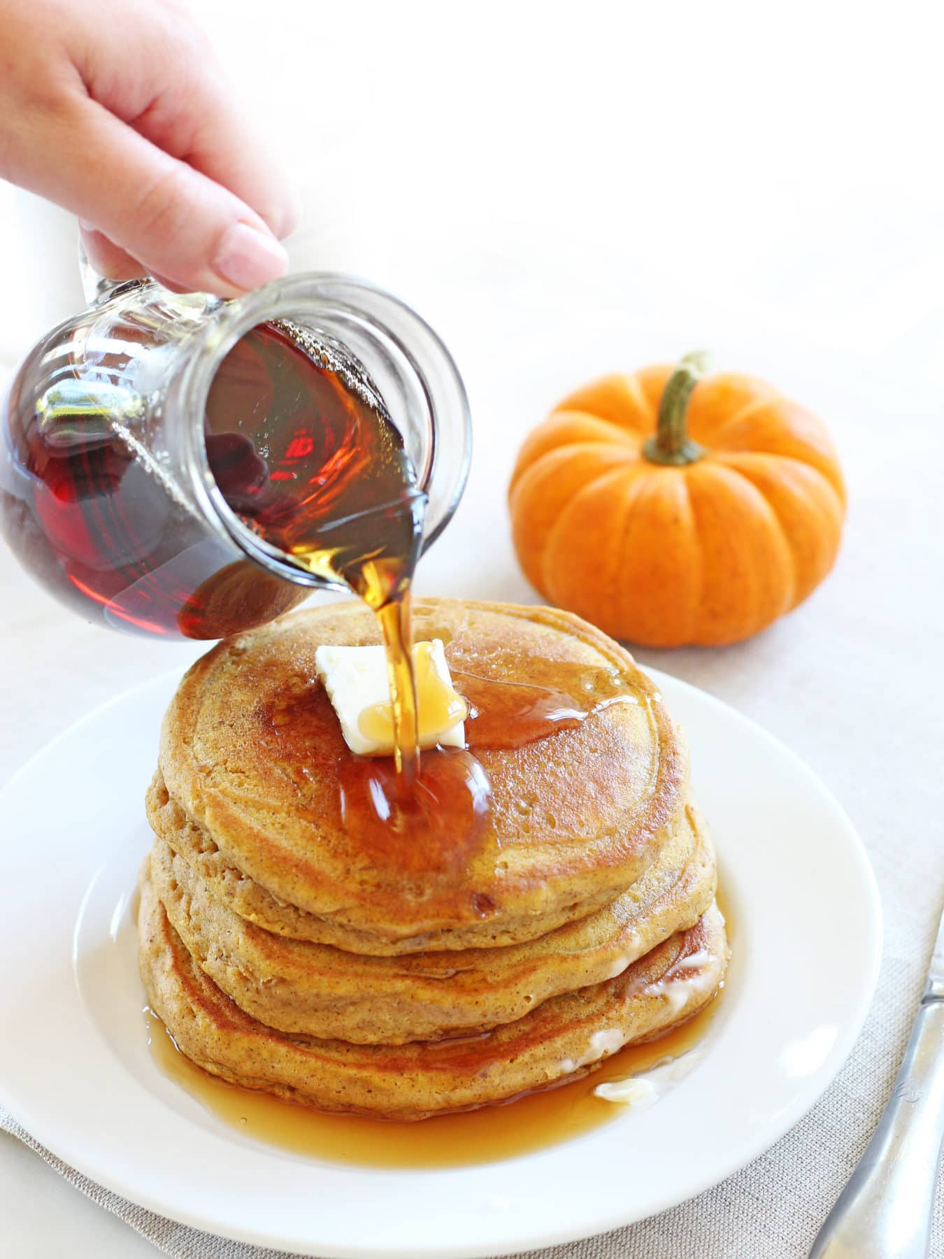Totally Interactive Recipe-Pumpkin Walnut Pancakes for dinner?