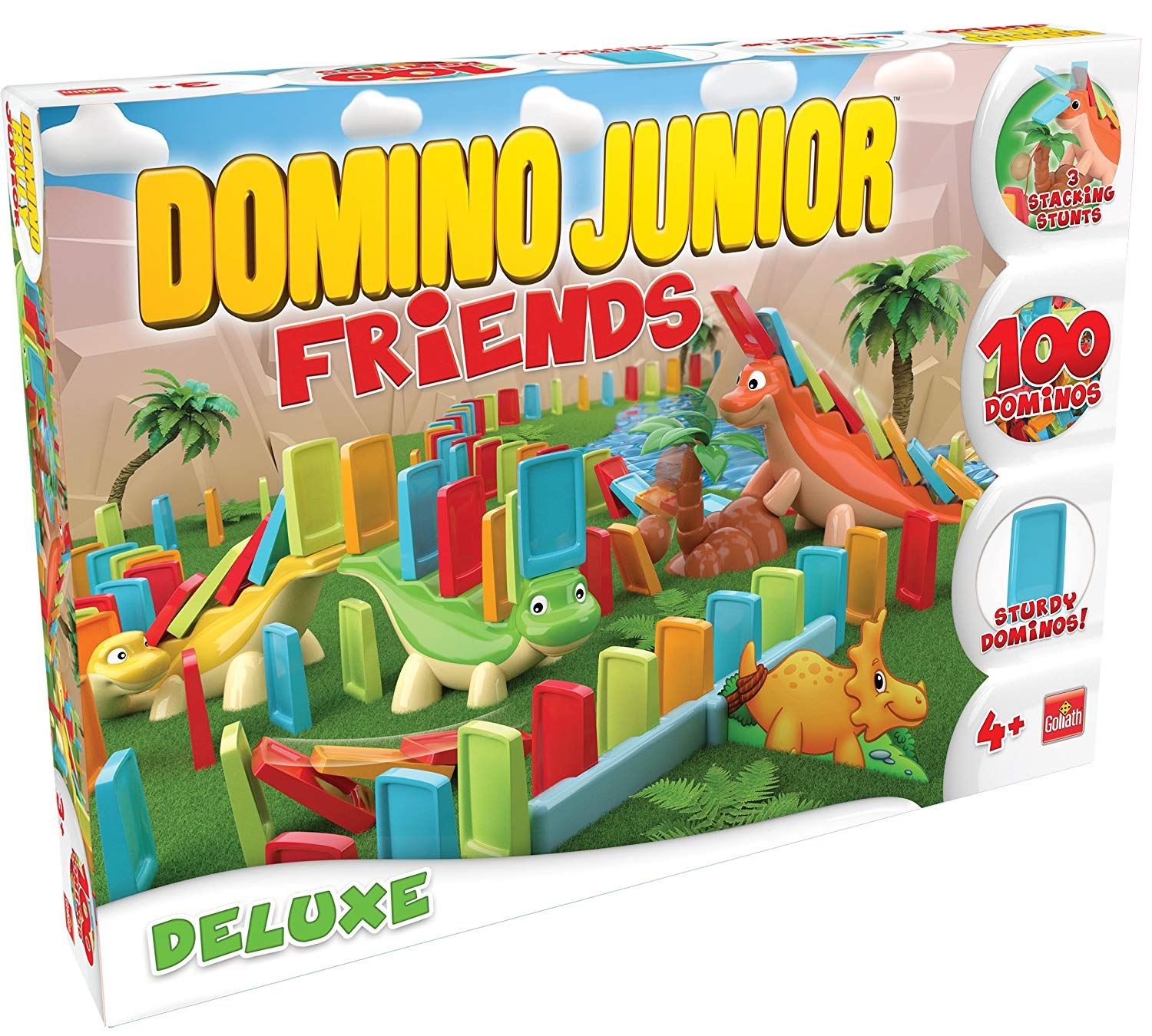 Goliath Junior Friends Deluxe Domino Game, Stem Kids