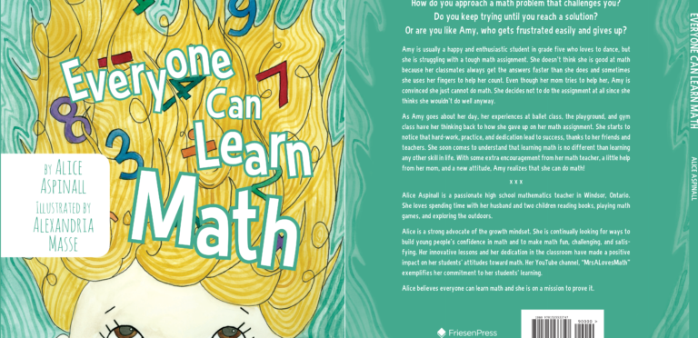 Everyone Can Learn Math is a hot new release (and already a Best Seller) by Alice Aspinall.